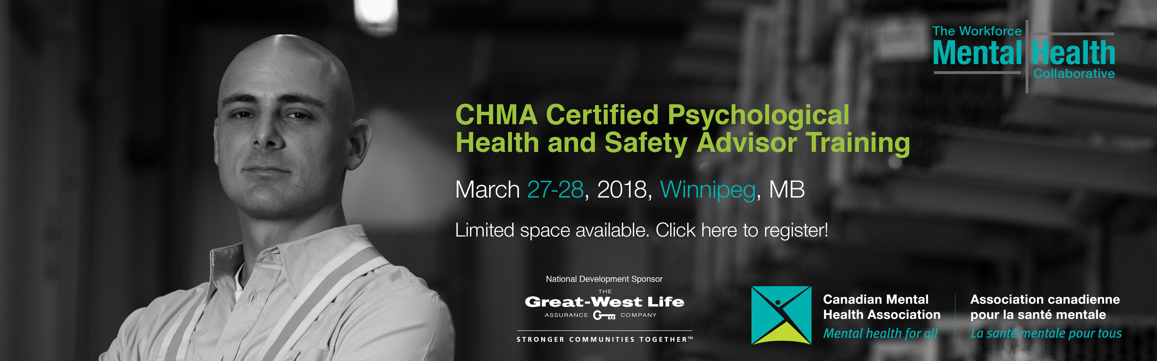 CMHA Certified Psychological Health & Safety Advisor Training – March 2018